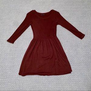 AE plum skater sweater dress